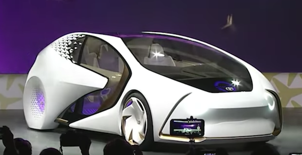 Toyota Unviels Concept Car That Alerts Cars Behind of