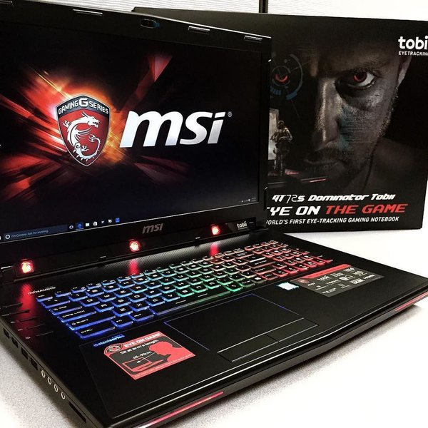 MSI's Gaming Laptop GT72S G Tobii With Eye-Tracking Now