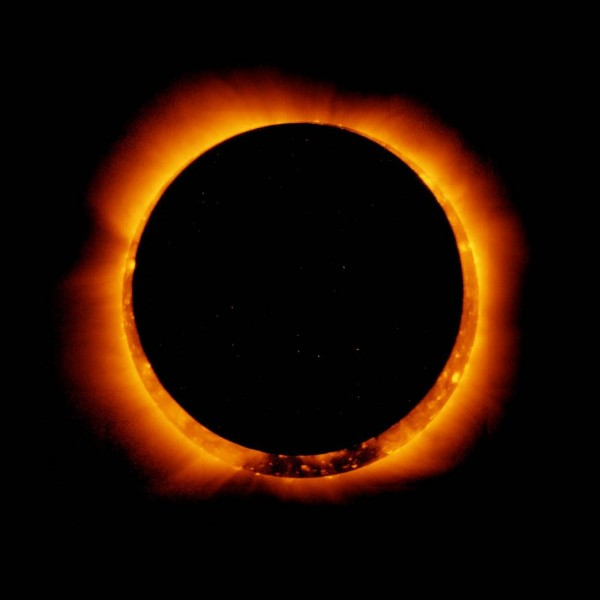 The Hinode satellite captured this breathtaking images of an annular solar eclipse. (Hinode/XRT/NASA)