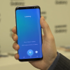 Bixby Voice can control the phone settings, like launching the camera, adjusting the brightness of the screen, and toggling Wi-Fi.