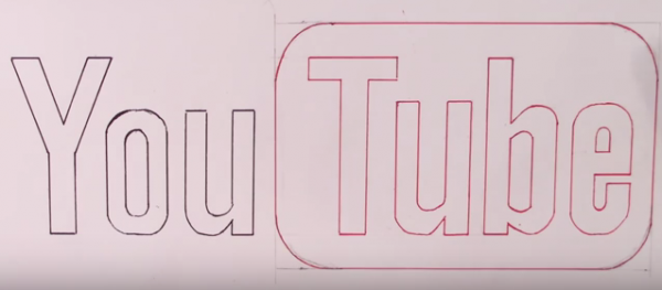 How to Draw the Youtube Logo