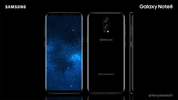 Samsung Galaxy Note 8 concept renders