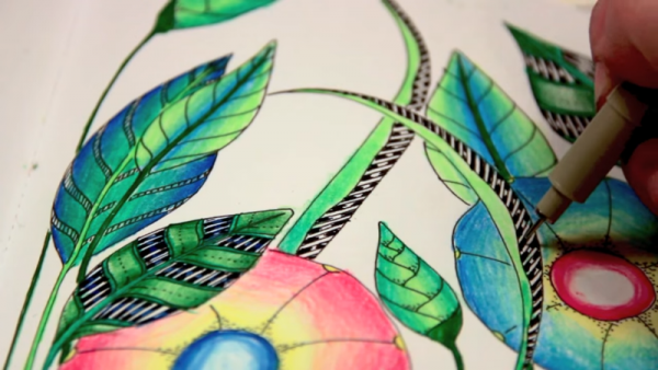 The adult coloring books have been identified in delivering a therapeutic effect.