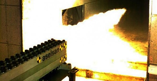 Railgun made by ASELSAN being test fired.