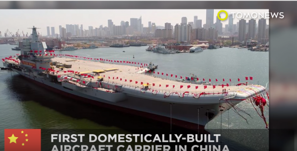 China's aircraft carrier is not as competitive as its American counterparts. (YouTube)