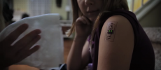 TechTats can track the heart rate and temperature of the body. (YouTube)