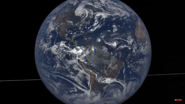 The Earth Polychromatic Imaging Camera (EPIC) from NASA captures photos of our once every hour, in which some of the shots appear to have strange flashes. (YouTube)