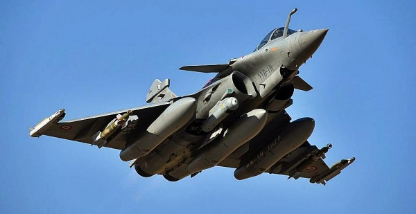Bombed-up Rafale of the French Air Force.