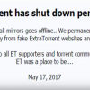 Popular torrent site ExtraTorrent has shut down permanently (YouTube)