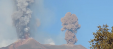 Mount Etna erupted 22 times earlier of this month, coughed up incandescent rock due to short bursts.  (YouTube)