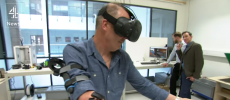 A new virtual reality technology is helping amputees deal with phantom limb pain. (YouTube)