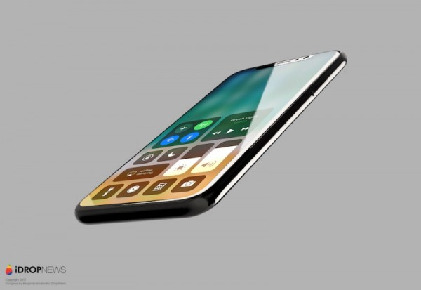 Leaked render of the all-screen IPhone 8 with OLED display