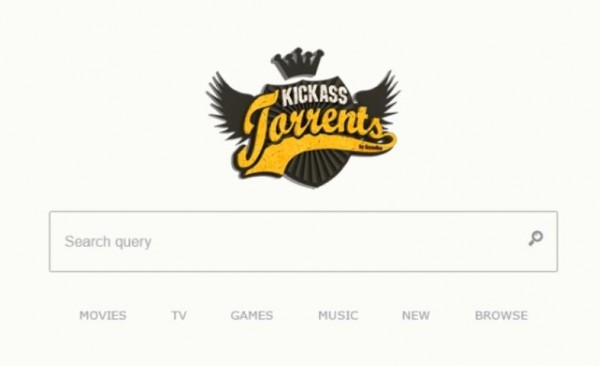 KickAss Torrents environment is being displayed.