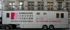 A mobile mammogram service is seen in Berlin, Germany.